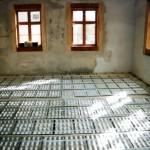 Haus Fliegenwedel, Radebeul, eingebaute Fußbodenheizung
