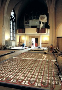 Fußbodenheizung in der St. Petri Kirche Dresden