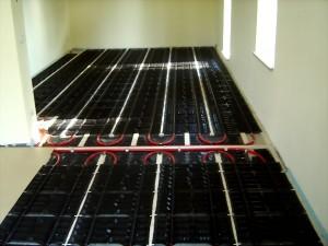 Fußbodenheizung Übergangsbereich Wohnzimmer-Küche